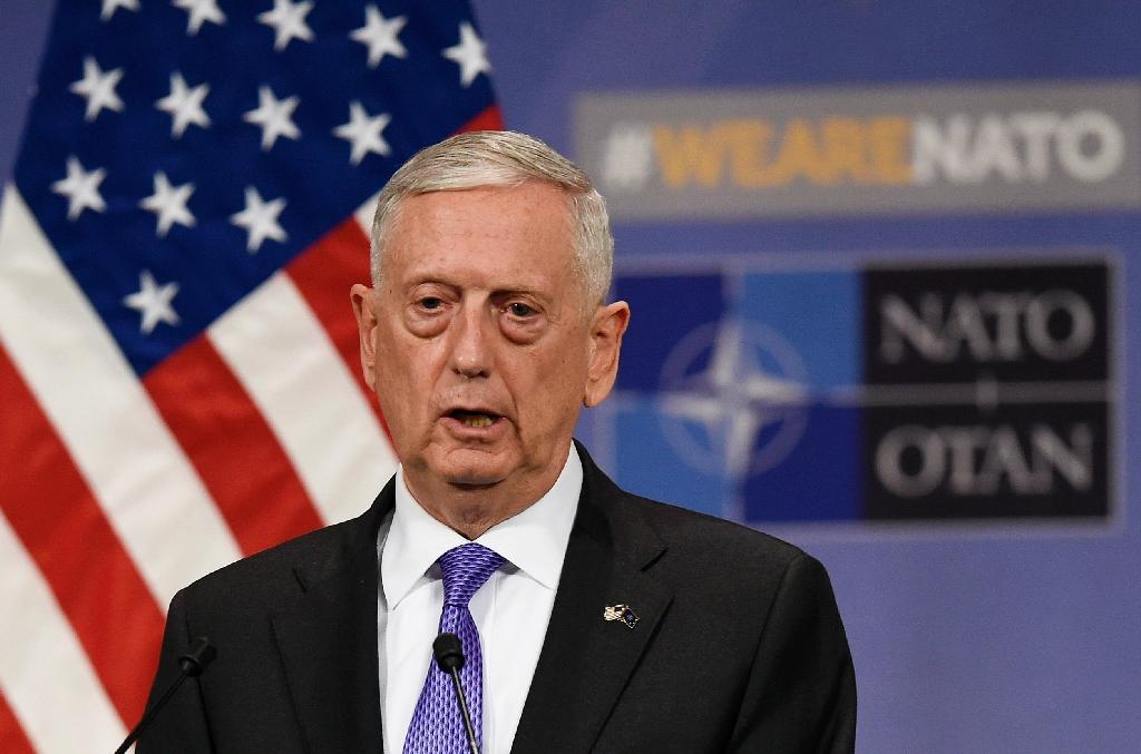 """Defense Secretary Jim Mattis was on vacation as Trump made his announcement, but the Pentagon said the decision was the result of """"consultation"""" (AFP Photo/JOHN THYS)"""