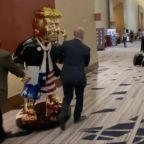 Gold statue of Trump appears at CPAC conference