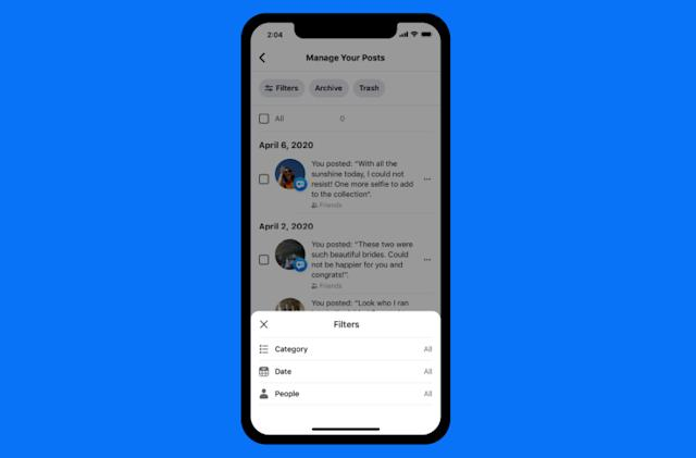 Facebook's Manage Activity tool helps clean up your social media history