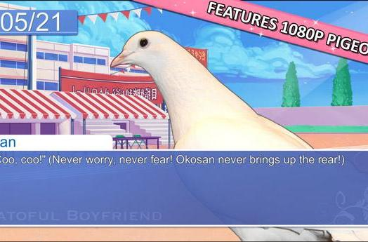 Pigeon dating sim Hatoful Boyfriend snuggles up to Steam on August 21
