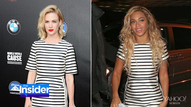 Beyoncé vs. January Jones: The Battle of the Bargain Dress
