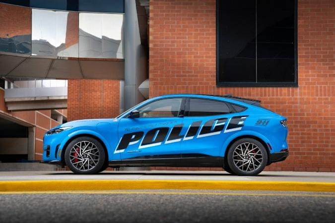 Ford Pro all-electric police pilot vehicle
