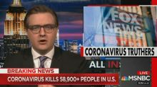 Chris Hayes rips Tucker Carlson for urging people to get back to work while 'broadcasting in safe isolation'