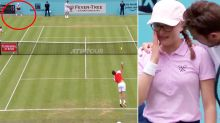 Tennis star in hot water after shocking ballgirl incident
