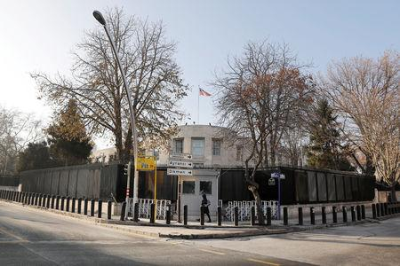 FILE PHOTO: General view of the U.S. Embassy in Ankara, Turkey, December 20, 2016. REUTERS/Umit Bektas/File Photo