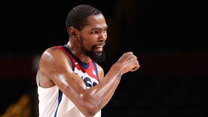 KD makes history, leads Team USA into quarters