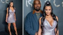 Kim Kardashian sparkles on red carpet with Kanye