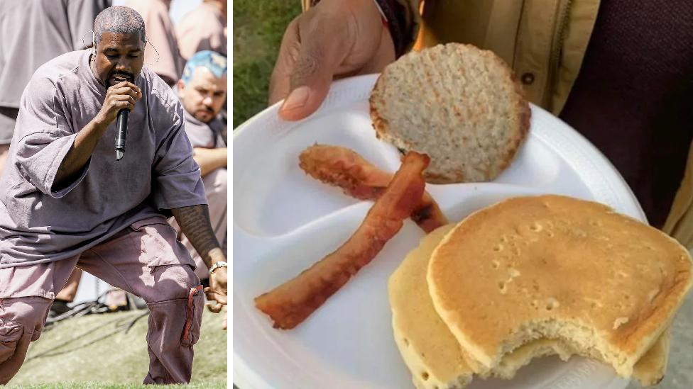 Kanye's Sunday Service trolled over $80 'brunch' plate
