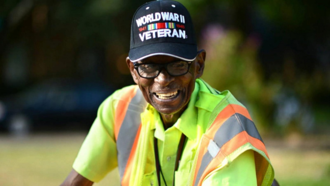 Beloved 94-year-old crossing guard gets birthday surprise