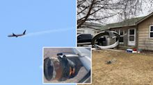 'Shaking violently': Debris falls from sky as airplane's engine explodes midair