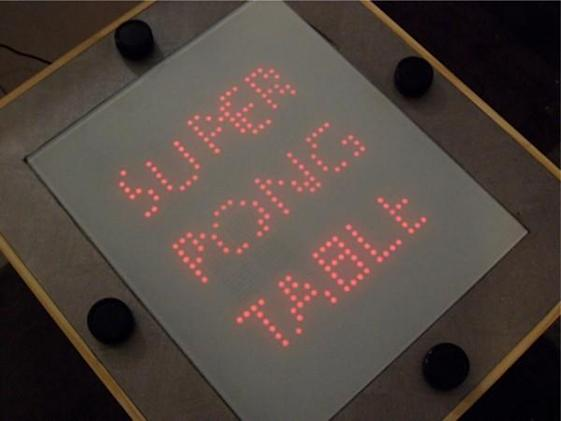 Super Pong Table serves up four-way retro play, whole lot of awesome (video)