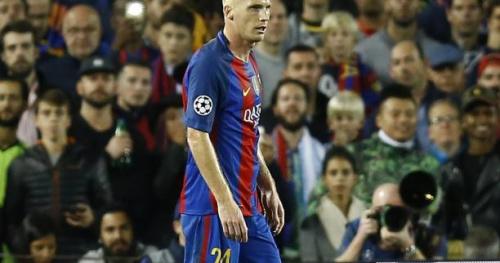 Foot - ESP - Barça - Barça : Jérémy Mathieu toujours à l'infirmerie et absent du groupe du Barça contre Osasuna