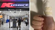'A lot of blood': Kmart item slices open woman's thumb