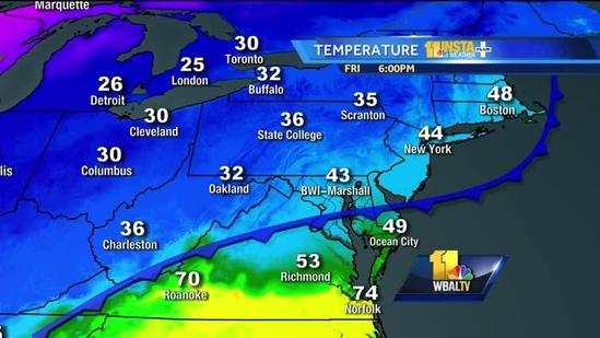 Winter storm watch in effect for parts of Maryland
