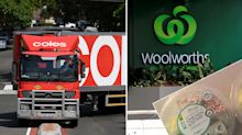 Woolworths and Coles online customers left with 'wasted' food