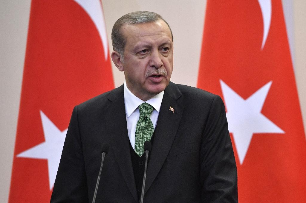 """We want to believe that our allies would prefer be side by side with ourselves rather than with the terror groups,"" Turkish President Recep Tayyip Erdogan said (AFP Photo/Alexander NEMENOV)"