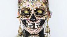 Artista faz sucesso ao criar maquiagens de caveira super elaboradas