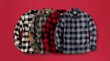 Roots' Plaid Collection is 40% off today (and everything else is 30% off)