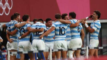 JO - Rugby à 7 (H) - L'Argentine en demi-finales du tournoi de rugby à 7 des JO de Tokyo après son exploit contre l'Afrique du Sud