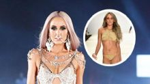 Imogen Anthony swaps sandkini for risque cut-out gown