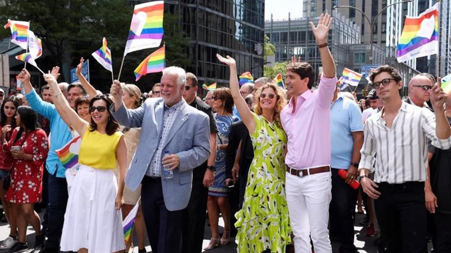 Trudeau, Premier Couillard march in Montreal's Pride parade