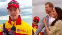 The hilarious comment Prince Harry made about an Aussie lifeguard's feet