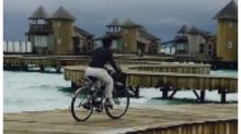 PHOTOS: Kajol goes biking in the lovely locales of Maldives