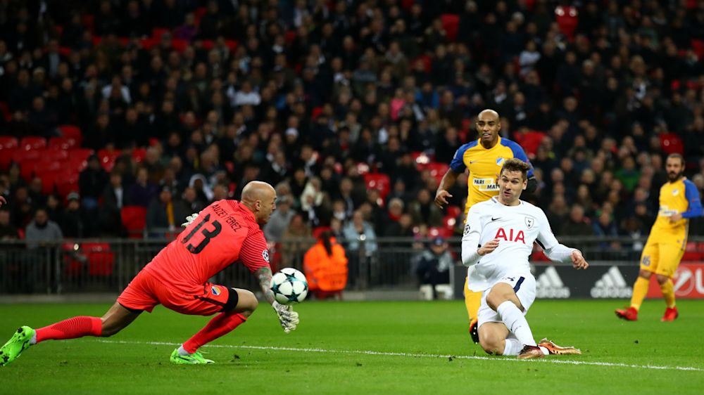 Tottenham 3 APOEL 0: Llorente on target as Spurs end group stage with routine win