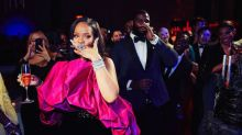 Just Look at Rihanna in Saint Laurent at Her 30th Birthday Party