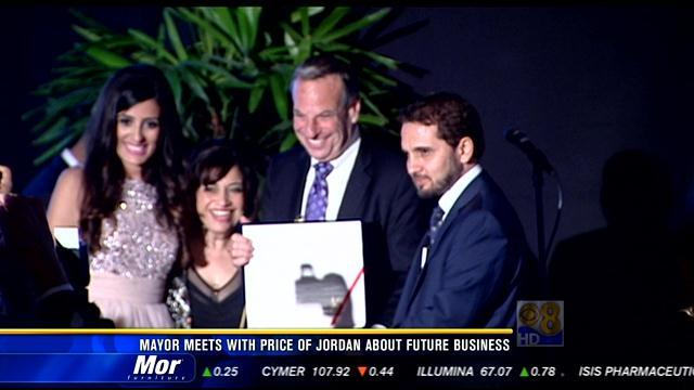 Mayor Filner meets with prince of Jordan about future business