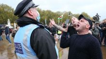 Coronavirus: Arrests as police officers injured at anti-lockdown protests in central London
