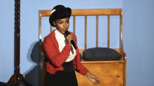 Oscars 2020: Janelle Monáe plays Mister Rogers and applauds female directors in musical intro