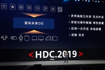 Richard Yu, head of Huawei's consumer business group, speaks at the Huawei Developer Conference in Dongguan