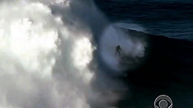 American surfer rides record-setting wave