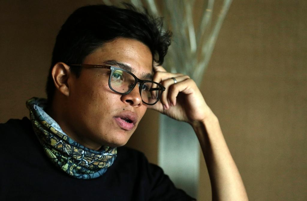 """Nicaraguan student leader Victor Cuadras, 25, tells AFP in an interview that the Ortega government has become """"dictatorial"""" (AFP Photo/INTI OCON)"""
