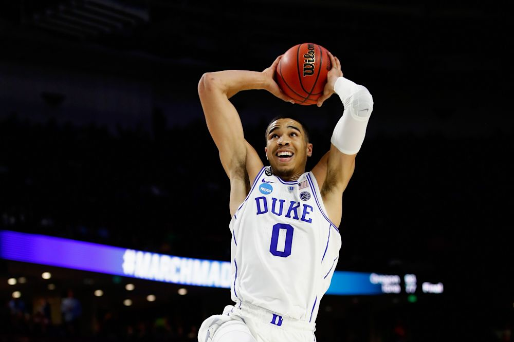 Jayson Tatum's last game at Duke was a second-round NCAA tournament loss to South Carolina. (Getty)