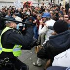 10 arrested as police break up London anti-lockdown rally