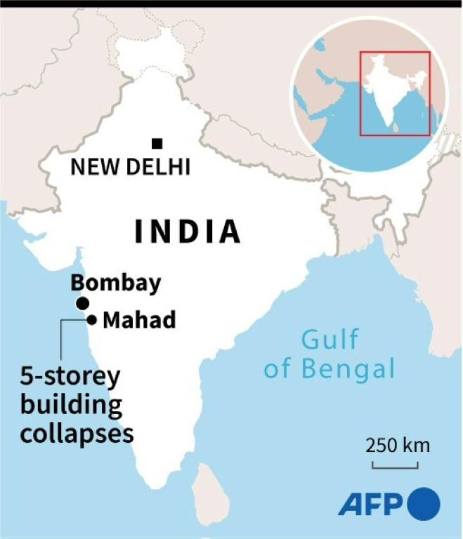 Dozens feared trapped in Indian apartment building collapse
