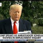 Trump speaks to media as Ambassador Sondland testifies in impeachment inquiry