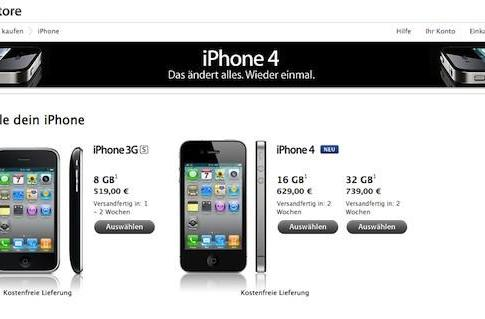 Apple offers unlocked, carrier-free iPhone in Germany