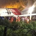 At least 17 dead as India airliner overshoots runway