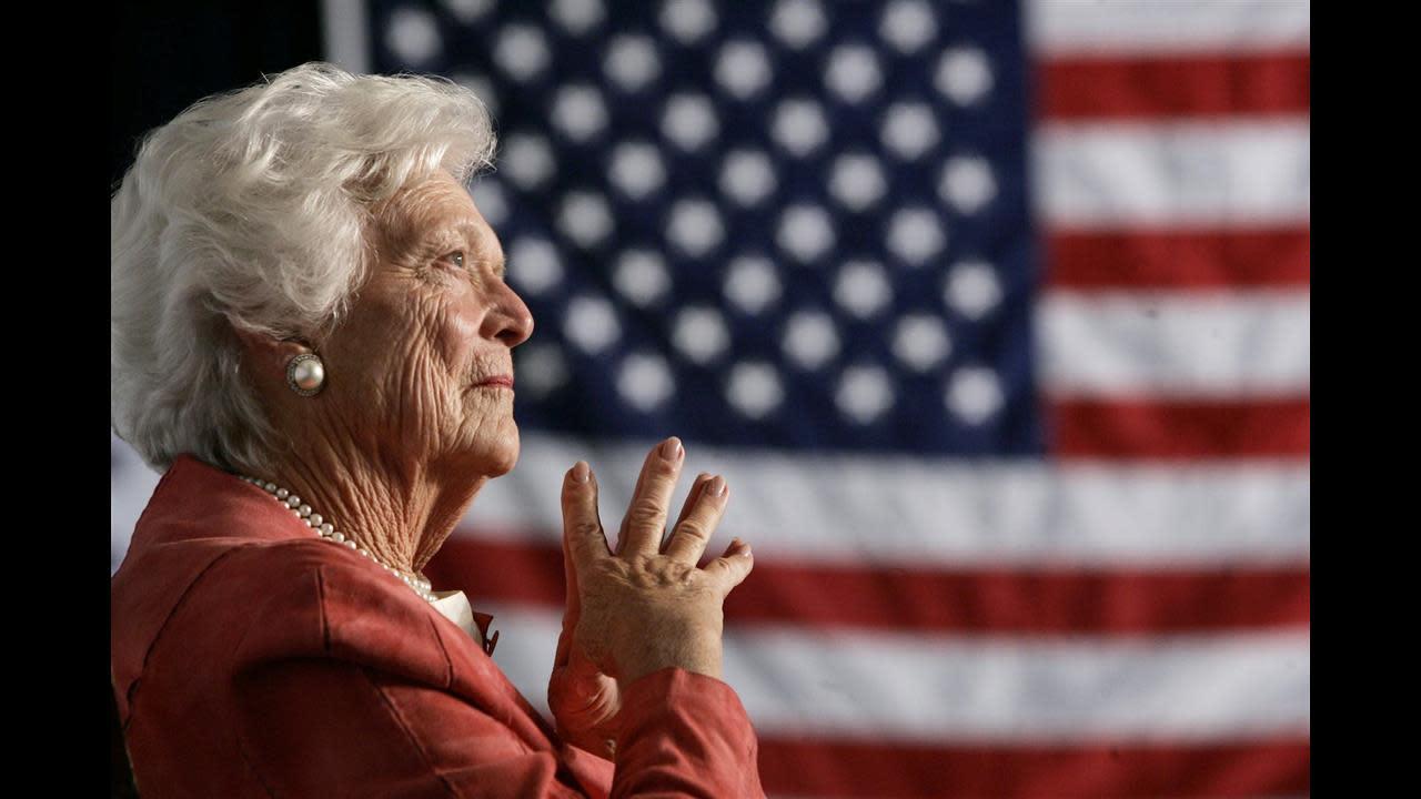 Barbara Bush, Former First Lady, Dies at Age 92