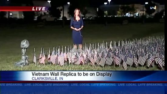 Vets escort Vietnam Wall replica through southern Indiana