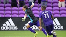 Incredible MLS penalty shootout as Orlando City outfield player goes in goal to make crucial save