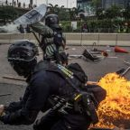 Hong Kong: Petrol bombs, bricks and tear gas thrown as chaos returns to anti-government protests