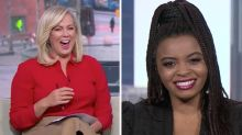 Sam Armytage loses it over star's racy confession