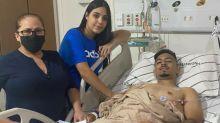 Com fraturas na perna, Alan retorna ao Palmeiras para recuperação