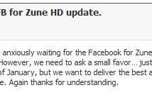 Zune HD Facebook app will be ready when it's ready