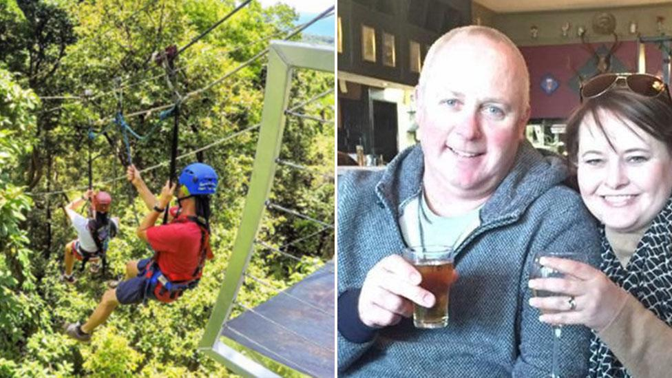Pictured: 'Loving' father who plunged to his death from zipline