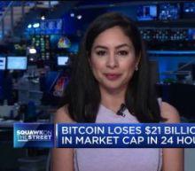 Bitcoin loses $21 billion in market cap in 24 hours